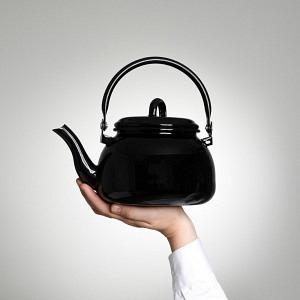 Teekrug schwarz