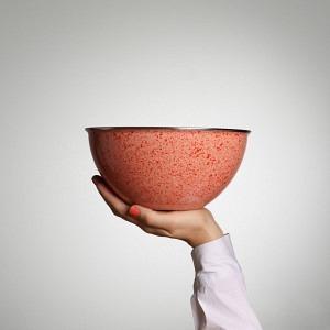 Schüssel, Ø 22 cm, 2,5 l, Lachs - frische Bio Tomaten Sprenkel