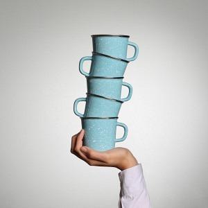 Quintett Kaffeetassen Glatsch Blu