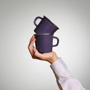 Kaffeetassen Duo Vitelotte Violette