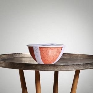 Schüssel-Set UNO, Ø 22 cm, 2,5 l, Lachs Tomaten Sprenkel inkl. Deckel, Dichtung und Band